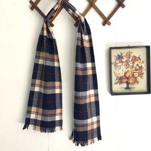 Plaid Scottish Wool Scarf